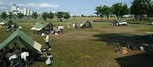 東京臨海広域防災公園 そなエリアでバーベキュー