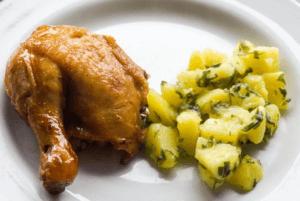 チキンとポテト