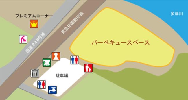 バーベキュー場 MAP