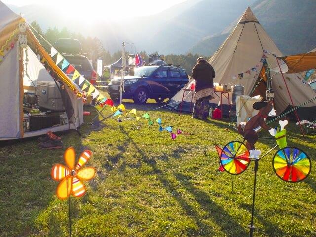 朝日のキャンプ場