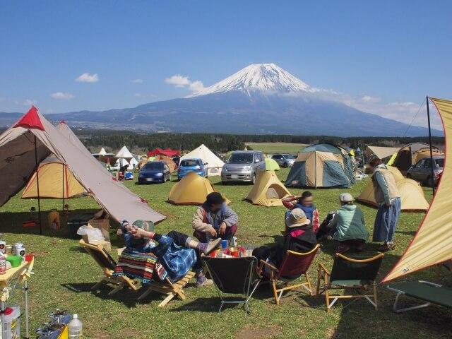 富士山の見えるキャンプ場