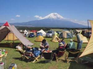 富士山とキャンプ