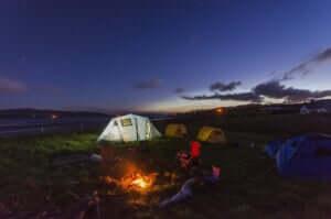 キャンプしながらバーベキュー