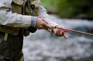 真剣な釣り人