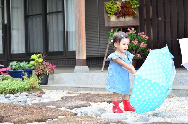 雨降りの予感の子供