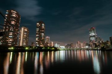 夜景と河川